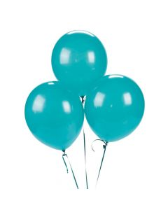 "Turquoise 11"" Latex Balloons"