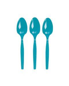 Turquoise Plastic Spoons