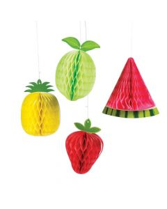 Tutti Frutti Fruit Honeycomb Hanging Decorations