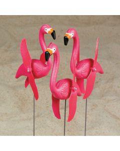 Twirling Flamingo Yard Signs