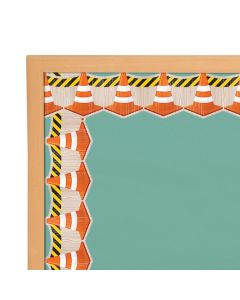 Under Construction Cones Bulletin Board Borders