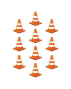 Under Construction Cones Bulletin Board Cutouts
