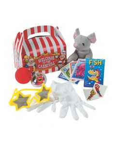 Under-The-Big-Top Pre-Filled Carnival Favor Boxes