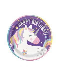 Unicorn Birthday Dinner Plates