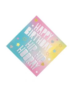 Unicorn Birthday Luncheon Napkins
