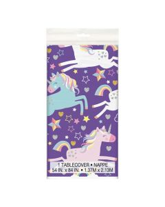 Unicorn Birthday Plastic Tablecloth