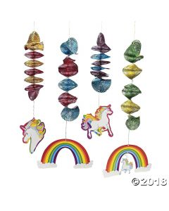 Unicorn Hanging Spirals