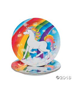 Unicorn Paper Lunch Plate