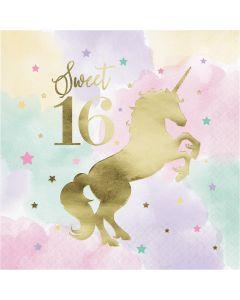 Unicorn Sparkle Lunch Napkin 16TH