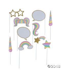 Unicorn Sparkle Photo Stick Props