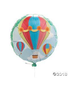 Up & Away Hot Air Balloon Foil Balloon