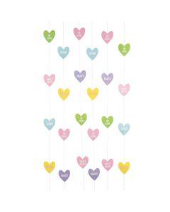 Valentine Conversation Heart String Decorations