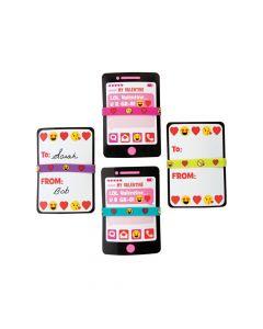 Valentine Emoji Bracelets and Exchange Cards