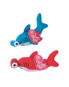 Valentine Stuffed Hammerhead Sharks with Card