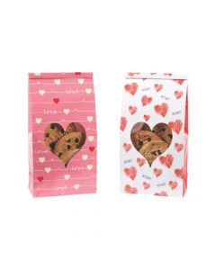 Valentine Treat Bags with Heart Window