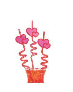 Valentine's Day Heart Silly Straws