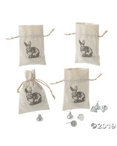 Vintage Easter Drawstring Treat Bags