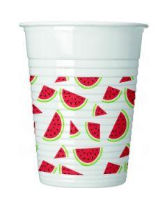 Watermelon Plastic Cups
