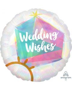 Wedding Ring Iridescent Balloon