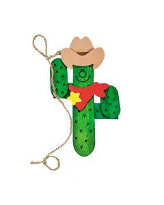 Western Cactus Magnet Craft Kit