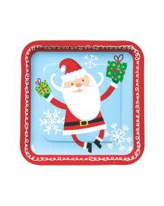 Whimsical Christmas Paper Dinner Plates