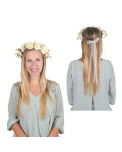 White Floral Wedding Crown