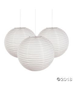 White Paper Lanterns 45CM