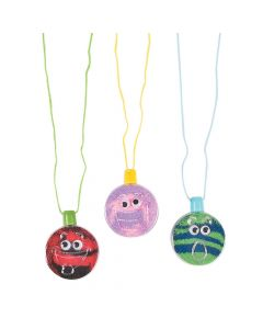 Wiggle Eye Sand Art Bottle Necklaces