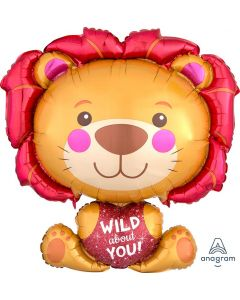Wild about You Lion Super Shape Balloon