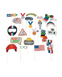 Winter Games Photo Stick Props
