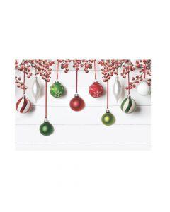 Winter Ornaments Backdrop
