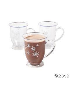 Winter Snowflake Plastic Mugs