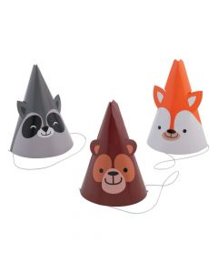 Woodland Party Cone Hats