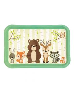 Woodland Party Paper Dessert Plates