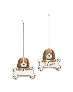 Write-A-Name Puppy Ornaments