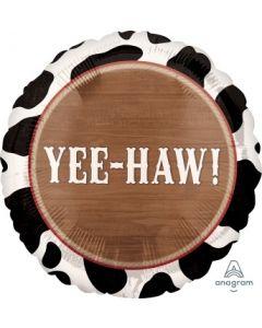 Yeehaw Cowboy Foil Balloon