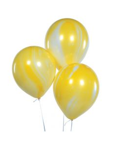 "Yellow Marble 11"" Latex Balloons"