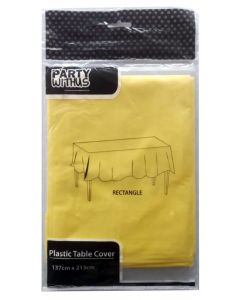 Yellow Plastic Table Cover