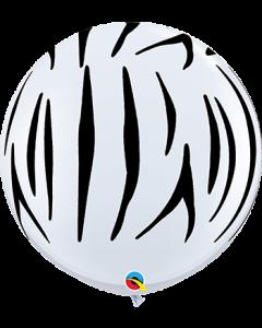 Zebra Stripes Latex Balloons