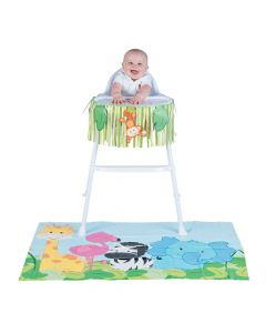 Zoo 1st Birthday High Chair Decorating Kit