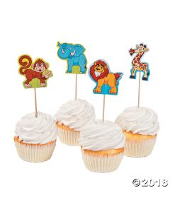 Zoo Adventure Cupcake Character Picks