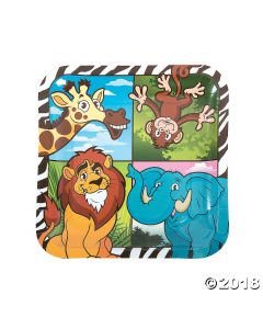 Zoo Adventure Paper Lunch Plates
