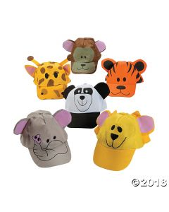 Zoo Animal Baseball Caps Assortment