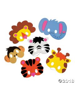 Zoo Animal Foam Mask Craft Kit