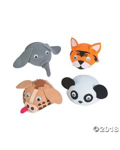 Zoo Animal Hats Assortment