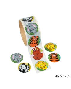 Zoo Animal Sticker Rolls