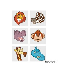 Zoo Animal Temporary Tattoos