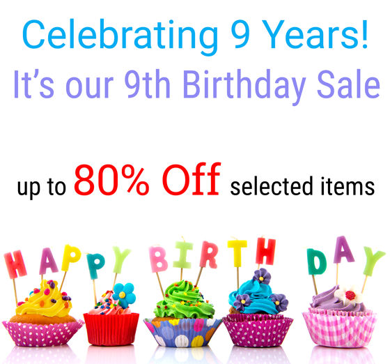 9th Birthday Sale