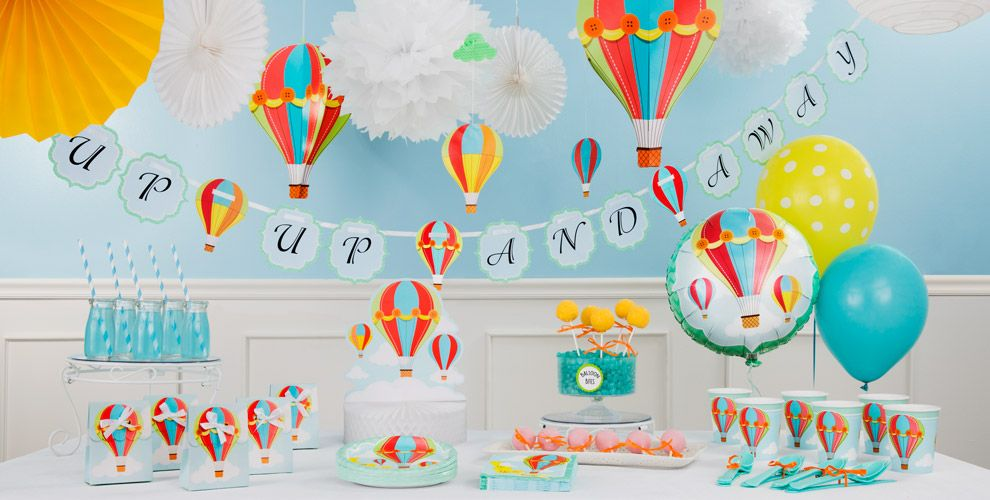 Up & Away Hot Balloon Party Supplies