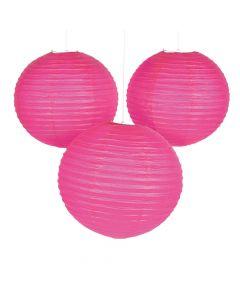 """18"""" Hot Pink Hanging Paper Lanterns"""